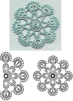 Crochet circle  with diagram