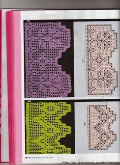 molti bordi a filet | Hobby lavori femminili - ricamo - uncinetto - maglia