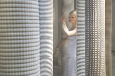 Hanna Korvela hand woven paper yarn & cotton rugs. Made in Finland.