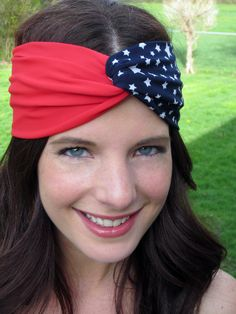 Fourth of July Turban Headband! Show your support for USA with this adorable turban headband. Only $18.00! www.etsy.com/shop/itstwisted