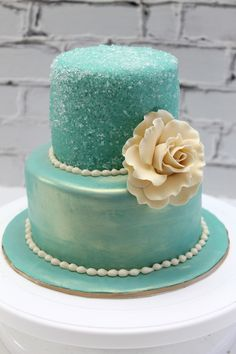 Birthday Cake but would be pretty as a smaller wedding cake too but then I like blue :-)