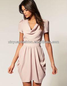 Señora casual vestido tulipán-imagen-Vestidos casual-Identificación del producto:570795846-spanish.alibaba.com
