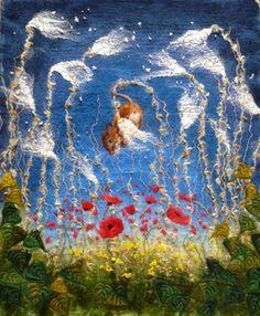 Dangling Field Mouse - Felt Art by Marmalade Rose
