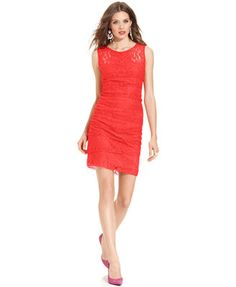 $67 Jessica Howard Petite Dress, Sleeveless Tiered Lace Sheath