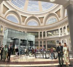 The opulent Westfield San Francisco Centre mall and its surrounding downtown San…