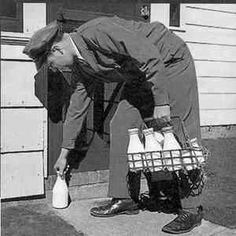 A milk man. Remember those days? Reminds me of my childhood. We had milk man delivery in the milk shoot every Monday. My Childhood Memories, Best Memories, Cherished Memories, School Memories, Nostalgia, Photo Vintage, Baby Boomer, I Remember When, Thats The Way