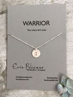 Semicolon Jewelry. Semicolon Necklace. by erinpelicano on Etsy