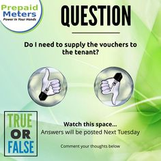 Question 12: Do I need to supply the vouchers to the tenant?