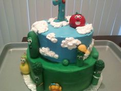 Veggie Tales Fondant Cupcake or Cake by TopItOffCakeToppers, $40.00