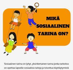 Infopaketti sosiaalisista tarinoista Mitä ne ovat ja miksi niistä on hyötyä? Pos, Family Guy, School, Fictional Characters, Montessori Activities, Fantasy Characters, Griffins