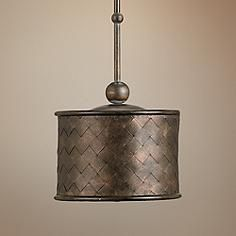 "Currey and Company Veneta 11"" Wide Old Iron Pendant Light"