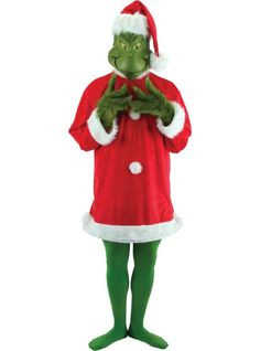 78402f6d6da Santa Grinch Costume for Adults - Party City Grinch Costumes