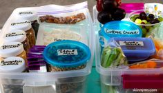Weight Loss is easier by having all your snacks at arms reach.. 20 Healthy Snack Box Ideas for the Pantry and Fridge!! #organization #weightloss #snackideas