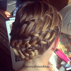 Double waterfall updo by Jenni's Hairdays Putous lettikampaus