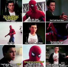 Spidey being his adorable self in Civil War