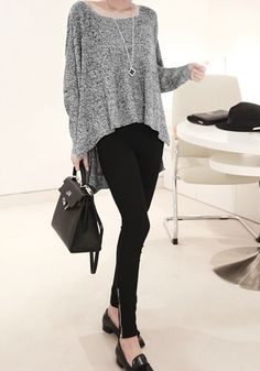 Knit Wing Pattern Sweater - Dolman Sleeves Top