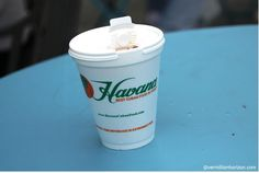 Cafe con leche at Havana. Visit #HavanaCubanFood found in West Palm Beach, Florida! Best Cuban Food in Town!