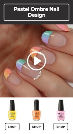 How to Get a Pastel Ombre Manicure - Best Nail Art Designs Nail Lacquer, Nail Polish, Ombre Nail Designs, Nail Art Designs, Nails Design, Pastel Ombre, Diy Ombre, Nails Yellow, Yellow Glitter