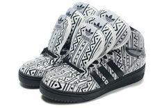 sports shoes d36d1 a81a7 Adidas Jeremy Scott 3 Tongue Black Adorn Adidas Blanche, Jeremy Scott Adidas,  Ankara,