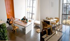 Perfect clever fold-away table, from http://www.betterlivingthroughdesign.com/renovate/fold-away-tables.html