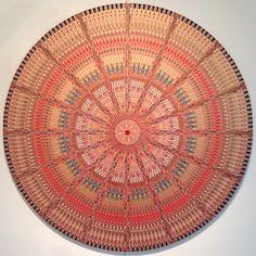 Mandala from vintage paper cigar bands by John Gutoskey