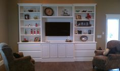 WALL UNIT BUILT BY JOSH MOYER WITH JLM WOODWORKING