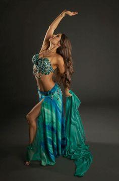Mermaid turquoise belly dance costume! Stunning.