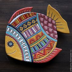 Fair Masters – ru … – Linda Gerber – Join the world of pin Clay Art Projects, Ceramics Projects, Clay Crafts, Fish Wall Art, Fish Art, Ceramic Painting, Ceramic Art, Clay Fish, Ceramic Glaze Recipes