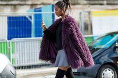 Image result for Patchwork fur coat
