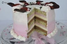 Tort Amour Vanilla Cake, Bacon, Cheesecake, Mousse, Ice Cream, Sweets, Candy, Cooking, Desserts