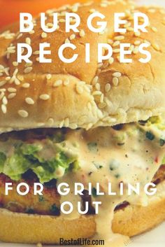 It doesn't matter what time of the year it is! Grilling the best burger recipes is always enjoyable. Best Grilled Burgers, Grilled Burger Recipes, Best Burger Recipe, Grilling Recipes, Crockpot Recipes, Gourmet Burgers, Healthy Dessert Recipes, Lunch Recipes, Party Recipes