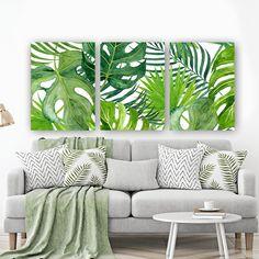 BANANA LEAF Wall Art Tropical Bedroom Wall Decor CANVAS or