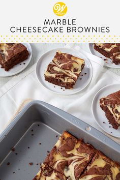 One of the best dessert combinations of all time: cheesecake and brownie all rolled into one delicious treat. Learn how to make the best of both worlds with this recipe that blends milk and semi-sweet chocolate chips to give just the right amount of velvety richness in each bite. Swirl them together for one unforgettable homemade dessert that everyone can agree on! #wiltoncakes #dessertrecipes #brownierecipes #dessertideas #brownieideas #cheesecake #brownies #dessert #desserts #homemade… Marble Cheesecake, Cheesecake Brownies, Brownie Recipes, Cake Recipes, Dessert Recipes, Homemade Desserts, Fun Desserts, Yummy Treats, Sweet Treats