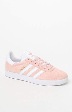 new styles 3af1f cf825 A classic indoor soccer shoe gets a modern rendition in the adidas Pink  Gazelle Sneakers. These women s sneakers are defined by a pigskin leather  upper that ...