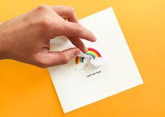 """Pride Grußkarte von meinem Label """"goina"""" Mit abnehmbarem Patch der aufgebügelt oder angenäht werden kann Plastic Cutting Board"""