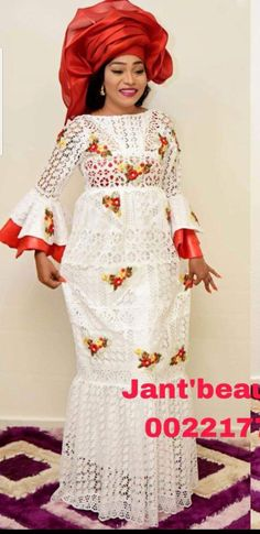 Embroidered dress Source by zeemoko African Lace Styles, African Print Dresses, African Wear, African Fashion Dresses, African Women, African Dress, Hijab Fashion, African Beauty, Ethnic Fashion