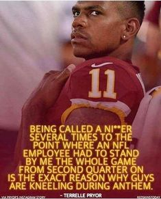 And that's why they kneel..... so some asshole in the crowd can call out that foul word to this player all game and no one does anything about it, but god forbid if this young man takes a knee to raise awareness for the racism in America....