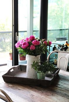 Summer Home - fork and flower Open Window, Fork, Peonies, Summer Time, Seasons, Table Decorations, Decorating, Flowers, Home Decor