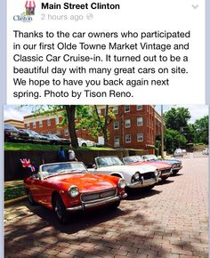 Vintage Cars in Clinton