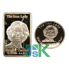 The Iron Lady Margaret Thatcher Gold Plated Coin And Bar, Iron Lady Margaret Thatcher