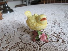 vintage figurine homco ceramic yellow bird by ButNotForgotten, $10.00