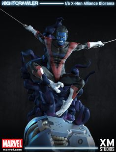 Nightcrawler - 1/6 X-Men Alliance Diorama (XM Studios), Daniel Simon on ArtStation at https://www.artstation.com/artwork/nightcrawler-1-6-x-men-alliance-diorama-xm-studios
