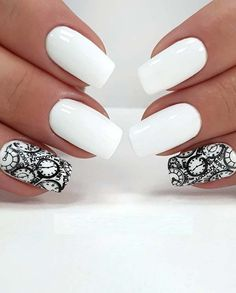 15 Adorable White Nail Art Designs for Women 2018. White nail designs are fantastic choice for ladies who are going to romantic date, formal or special events. This style is also best if you are going to an official meeting. See here, we have rounded up the modern ideas of white nail designs and images specially for you to wear in 2018. You must sport the white nail designs for cutest hand's look.