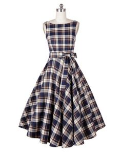 vintage autumn and winter new style classic V back dress