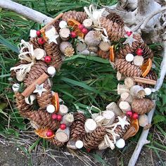Vánoční věnec - Šišky a špalíky by sanvitalky - SAShE.sk - Handmade Vianoce