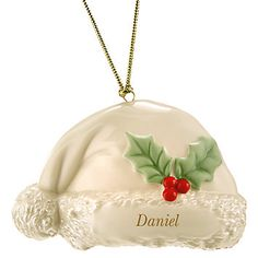 My Santa Hat Ornament by Lenox Lenox Christmas Ornaments, Santa Ornaments, Vintage Christmas, Christmas Bulbs, Christmas Decorations, Holiday Decor, Collections Ect, Christmas Flowers, Family Traditions