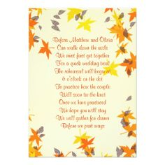 >>>Coupon Code          Fall Leaves Rehearsal Dinner Poem Invitation           Fall Leaves Rehearsal Dinner Poem Invitation today price drop and special promotion. Get The best buyShopping          Fall Leaves Rehearsal Dinner Poem Invitation lowest price Fast Shipping and save your money N...Cleck link More >>> http://www.zazzle.com/fall_leaves_rehearsal_dinner_poem_invitation-161974131948453590?rf=238627982471231924&zbar=1&tc=terrest