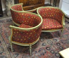 Tete-a-Tete Conversation Chair / Sofa for the library room