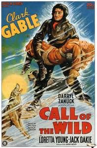The Call of the Wild is a 1935 American adventure film directed by William A. Wellman and starring Clark Gable, Loretta Young, and Jack Oakie. Based on Jack London's novel of the same name, the film omits all but one of the book's story lines. Old Movie Posters, Classic Movie Posters, Classic Movies, Vintage Posters, Clark Gable, Stuart Little, Vince Mcmahon, Old Movies, Vintage Movies