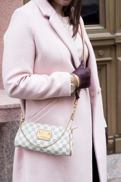 Pink wool coat Lindex www.livinupanotch.com Pink Wool Coat, Louis Vuitton, Shoulder Bag, Bags, Outfits, Style, Fashion, Handbags, Outfit